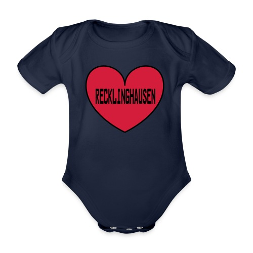 Recklinghausen Herz - Männer Kapuzenpulli - Baby Bio-Kurzarm-Body