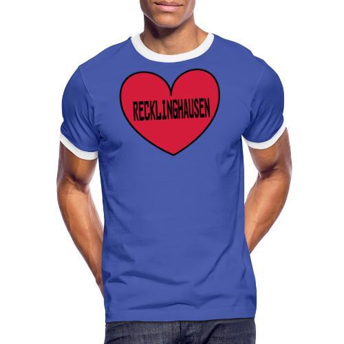Recklinghausen Herz - Männer Kapuzenpulli - Männer Kontrast-T-Shirt