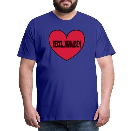 Recklinghausen Herz - Männer Kapuzenpulli - Männer Premium T-Shirt