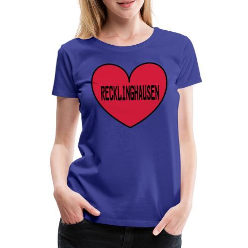 Recklinghausen Herz - Männer Kapuzenpulli - Frauen Premium T-Shirt