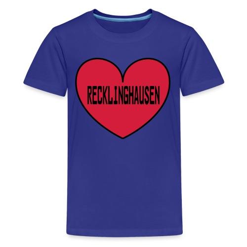 Recklinghausen Herz - Männer Kapuzenpulli - Teenager Premium T-Shirt