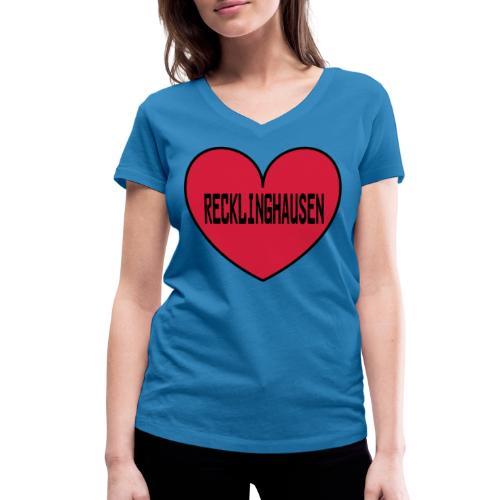 Recklinghausen Herz - Männer Kapuzenpulli - Frauen Bio-T-Shirt mit V-Ausschnitt von Stanley & Stella