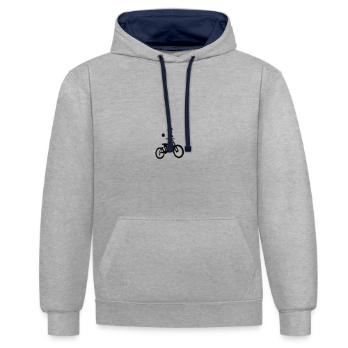Biker bottle - Contrast Colour Hoodie