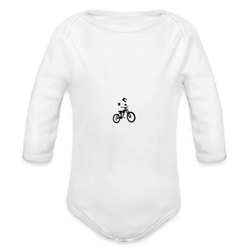 Biker bottle - Organic Longsleeve Baby Bodysuit