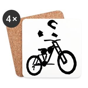 Biker bottle - Coasters (set of 4)