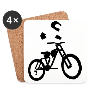 Biker bottle - Coasters (set of 4)