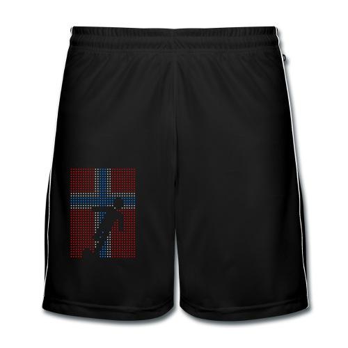 Norge fotball flagg prikker - Fotballshorts for menn
