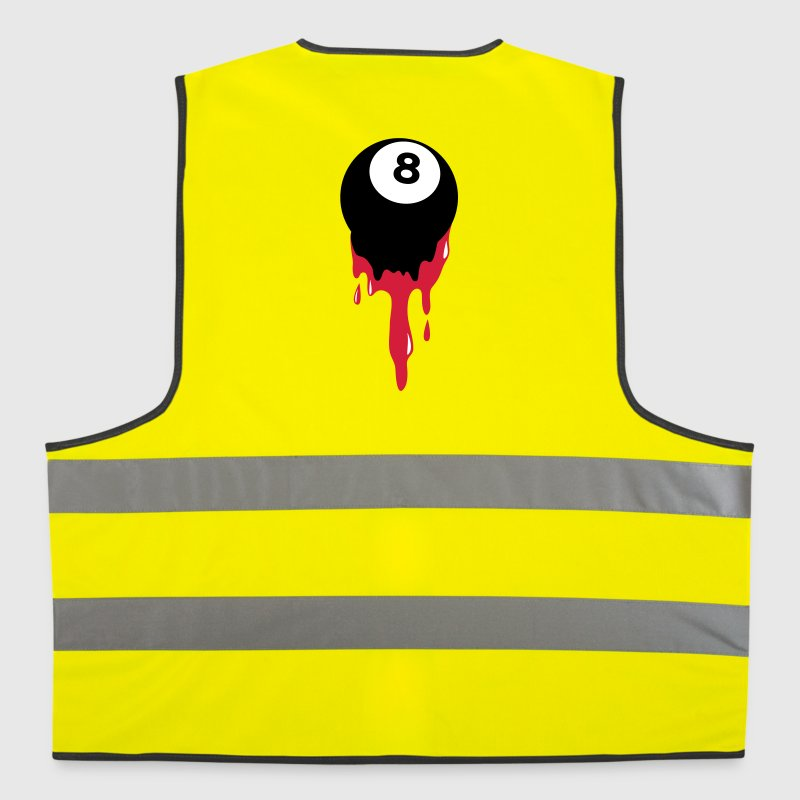 bleeding eight 8 ball from snooker or pool Jackets & Vests - Reflective Vest