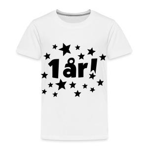 1 år! - Premium T-skjorte for barn
