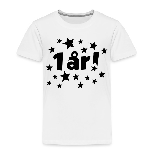 1 år! - Premium T-skjorte for barn