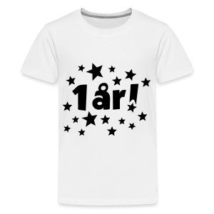1 år! - Premium T-skjorte for tenåringer