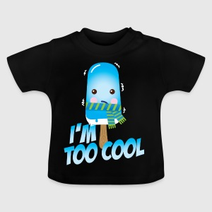 Funny and cute vintage too cool freezing ice cream for cold winter and hot summer t-shirts Kids' Shirts - Baby T-Shirt