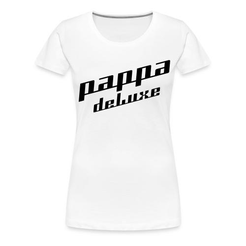 Pappa deLuxe - Sort print - Premium T-skjorte for kvinner