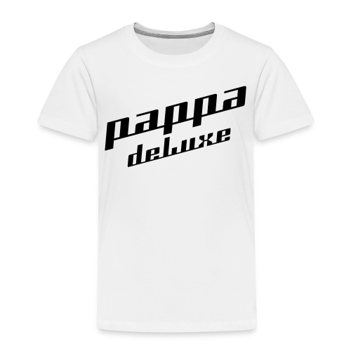 Pappa deLuxe - Sort print - Premium T-skjorte for barn