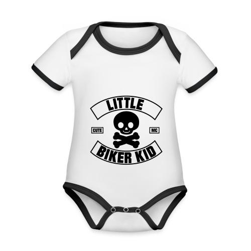 Little Biker Kid (Cute MC) - Baby Bio-Kurzarm-Kontrastbody