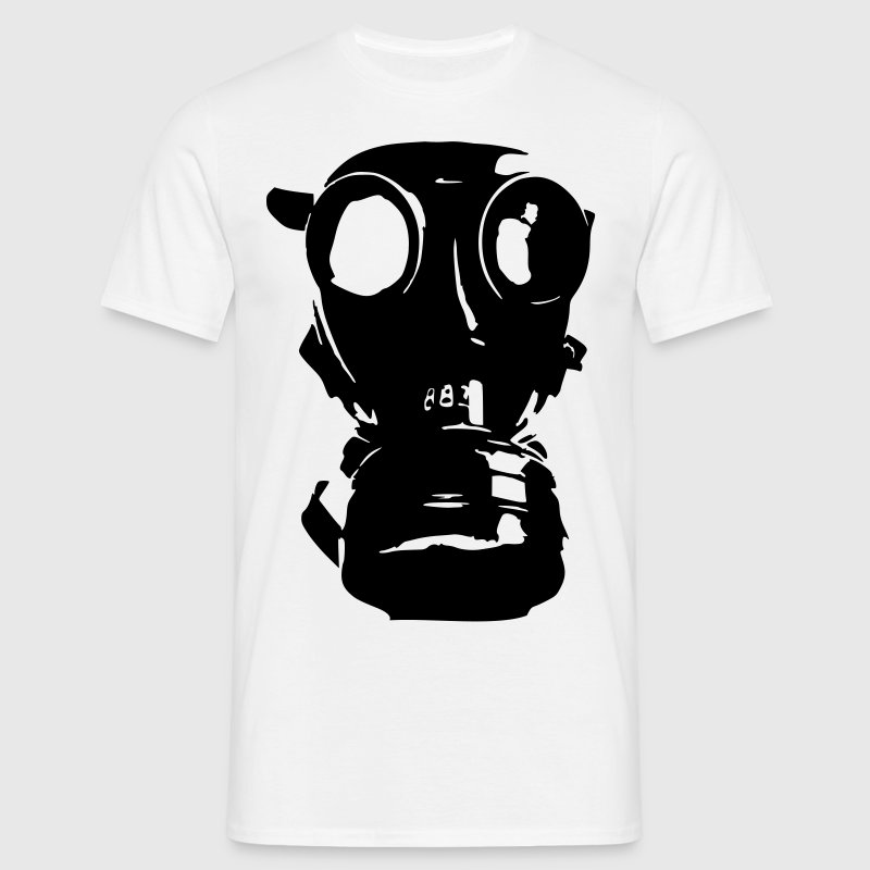gas mask, skull, skull, respiratory protection, Bundeswehr - Men's T-Shirt