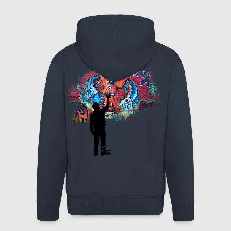 graffiti is art 1 by dk Sweat-shirts - Veste à capuche Premium Homme