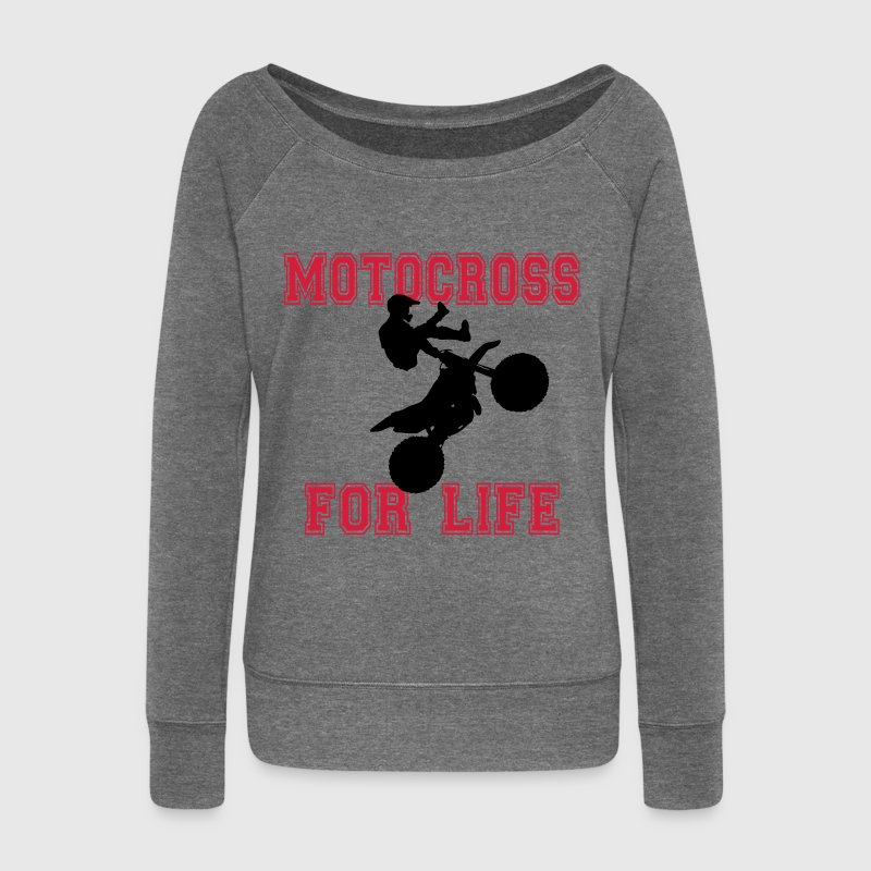 motocross for life Sweat-shirts - Pull Femme col bateau de Bella