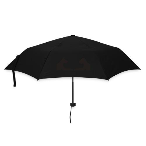 Motiv vorne und hinten - Regenschirm (klein)