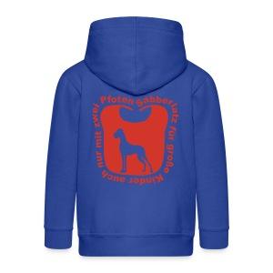 Sabberlatz Sweatshirt mit hellblauem Motiv - Kinder Premium Kapuzenjacke