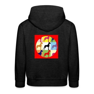 Neuer Button - Doggensilhouette pop art - Kinder Premium Hoodie