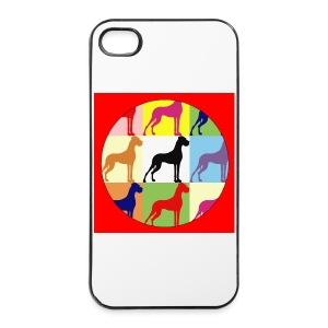 Neuer Button - Doggensilhouette pop art - iPhone 4/4s Hard Case