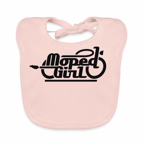 Moped Girl / Mopedgirl (V1) - Baby Organic Bib