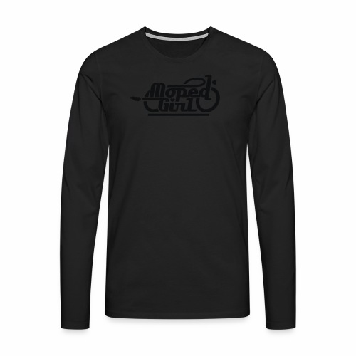 Moped Girl / Mopedgirl (V1) - Men's Premium Longsleeve Shirt