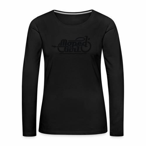 Moped Girl / Mopedgirl (V1) - Frauen Premium Langarmshirt