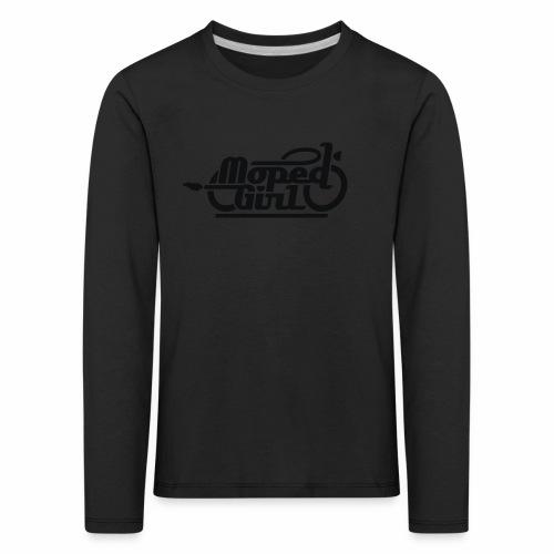 Moped Girl / Mopedgirl (V1) - Kids' Premium Longsleeve Shirt