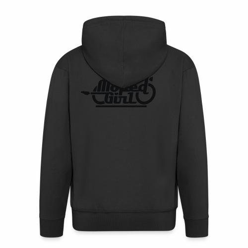 Moped Girl / Mopedgirl (V1) - Men's Premium Hooded Jacket
