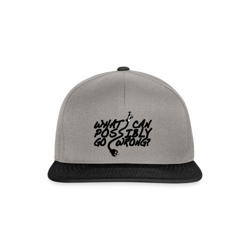 What can possibly go wrong? Schürze - Snapback Cap