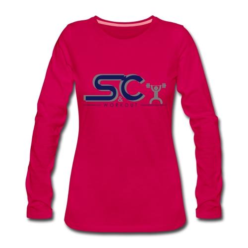 Workout T-Shirt Vrouwen - Vrouwen Premium shirt met lange mouwen
