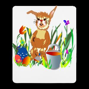 Shirt  Hase auf der Wiese - Mousepad (Hochformat)
