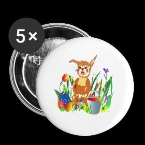 Shirt  Hase auf der Wiese - Buttons groß 56 mm