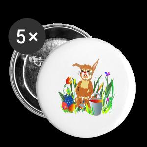 Shirt  Hase auf der Wiese - Buttons mittel 32 mm