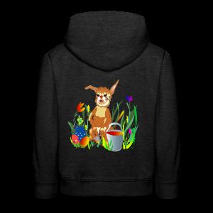 Shirt  Hase auf der Wiese - Kinder Premium Hoodie