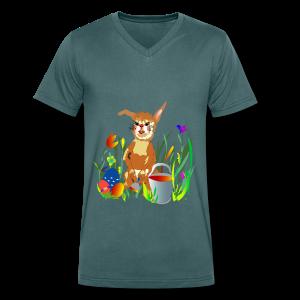 Shirt  Hase auf der Wiese - Männer Bio-T-Shirt mit V-Ausschnitt von Stanley & Stella