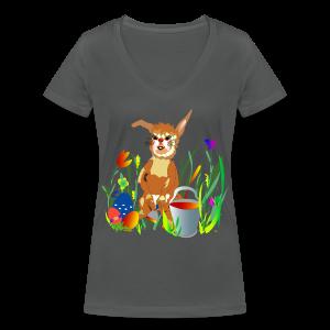 Shirt  Hase auf der Wiese - Frauen Bio-T-Shirt mit V-Ausschnitt von Stanley & Stella