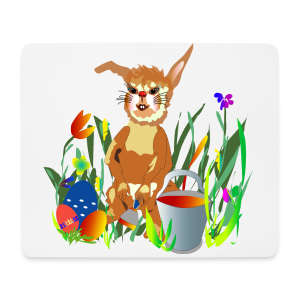 Shirt  Hase auf der Wiese - Mousepad (Querformat)