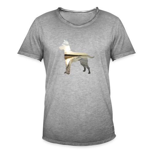 Hund-Nordsee - Männer Vintage T-Shirt