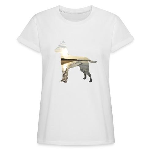 Hund-Nordsee - Frauen Oversize T-Shirt
