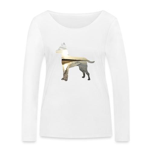 Hund-Nordsee - Frauen Bio-Langarmshirt von Stanley & Stella