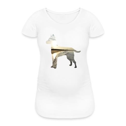 Hund-Nordsee - Frauen Schwangerschafts-T-Shirt