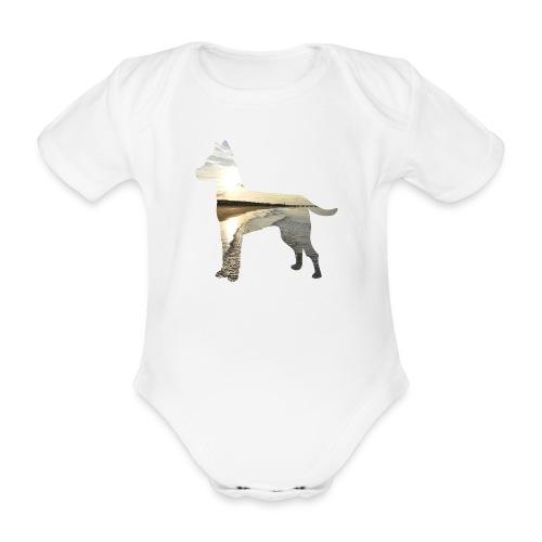 Hund-Nordsee - Baby Bio-Kurzarm-Body
