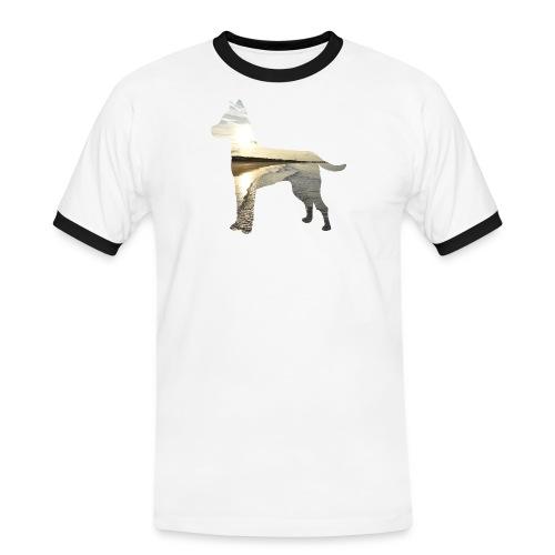 Hund-Nordsee - Männer Kontrast-T-Shirt