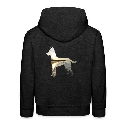 Hund-Nordsee - Kinder Premium Hoodie