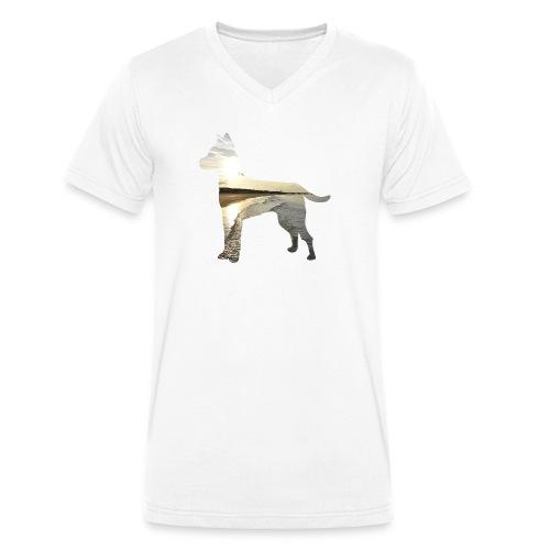 Hund-Nordsee - Männer Bio-T-Shirt mit V-Ausschnitt von Stanley & Stella