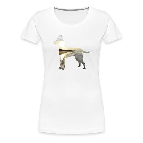 Hund-Nordsee - Frauen Premium T-Shirt