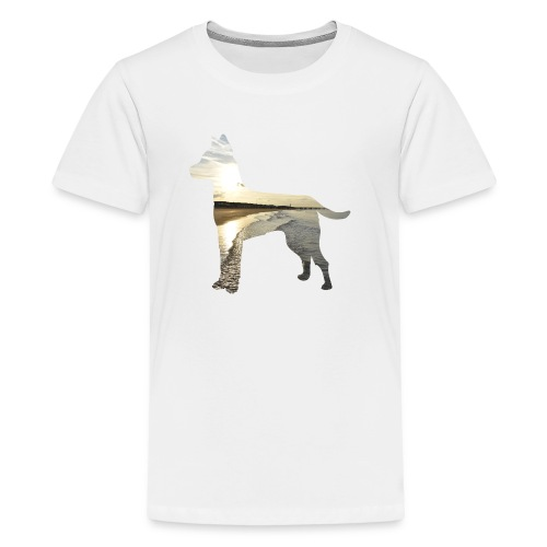 Hund-Nordsee - Teenager Premium T-Shirt